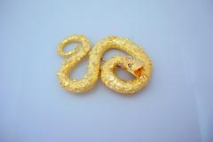 hammerman_18k_y.g._diamond_snake_brooch