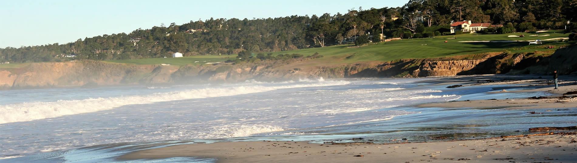 carmel beach and pebble beach golf course